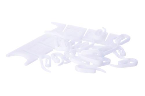COMPOSITE PACK PLASTIC CURTAIN HOOKS & CORD TIDIES
