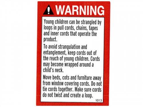 PACKAGING WARNING LABEL