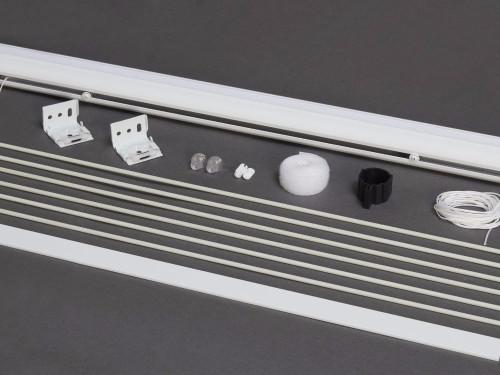 Roman Blind Head Rail, Middle Rods & Bottom Bar Kit
